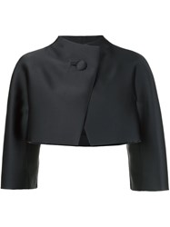 Paule Ka One Button Structured Jacket Black
