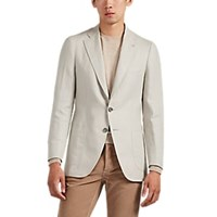 Isaia Dustin Linen Two Button Sportcoat Sand