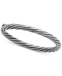 Macy's Spiral Twist Statement Ring In 14K White Gold