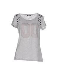 Duck Farm Topwear T Shirts Women Light Grey