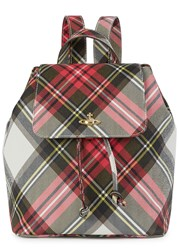 Vivienne Westwood Derby Tartan Print Faux Leather Backpack Multicoloured