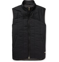 Dunhill Quilted Cashmere Gilet Midnight Blue