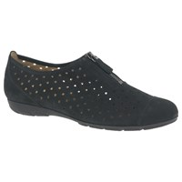 Gabor Gibson Perforated Zip Detail Pumps Black