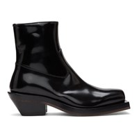 Ion Black Squared Boots
