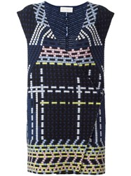 Peter Pilotto Ottoman Knitted Gilet Black