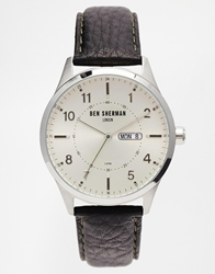 Ben Sherman Brown Leather Strap Watch Wb002s Black