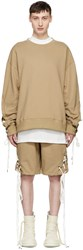 D.Gnak By Kang.D Beige String Sleeve Sweatshirt