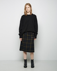 Zucca Tartan Cable Knit Skirt Green