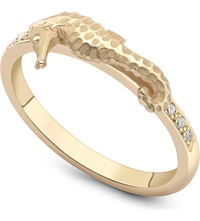 Theo Fennell Seahorse Gold And Diamond Stack Ring