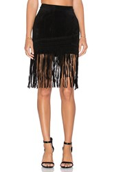 Blank Nyc Fringe Mini Skirt Black