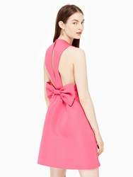 Kate Spade Satin Faille Bow Back Dress Cabaret Pink