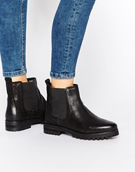 Rule London Chunky Leather Chelsea Boots Black