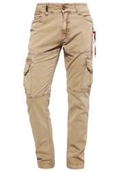 Alpha Industries Spotter Cargo Trousers Khaki Sand