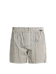 Dolce And Gabbana Multi Striped Cotton Poplin Boxer Shorts White Multi