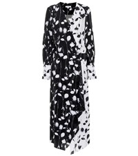 Equipment Neema Printed Midi Dress Black