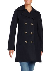 Michael Michael Kors Wool Blend Peacoat Navy