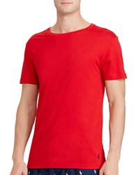 Polo Ralph Lauren Cotton Modal Crewneck Sleep Shirt Red