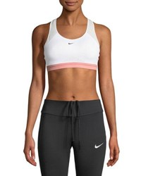 Nike Motion Adapt High Support Sports Bra White Red