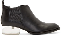 Alexander Wang Black Notched Lucite Heel Kori Ankle Boots
