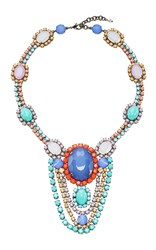 Sharra Pagano Blue Drop Crystal Necklace