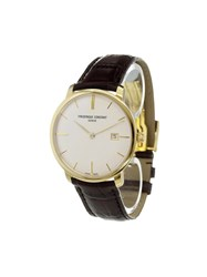 Frederique Constant 'Slimline Automatic' Analog Watch Stainless Steel