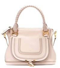 Chloe Marcie Medium Leather Tote Pink