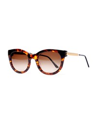 Thierry Lasry Lively Limited Edition Vintage Pattern Square Sunglasses Tortoise Green