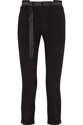 Ann Demeulemeester Cropped Wool Slim Leg Pants Black