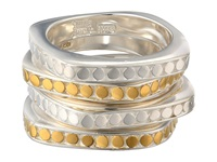 Anna Beck Set Of 4 Multi Disk Stackable Rings Sterling Silver W 18K Gold Vermeil Ring