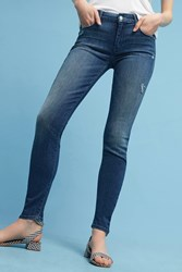 Anthropologie Mother Looker Mid Rise Skinny Jeans Denim Light