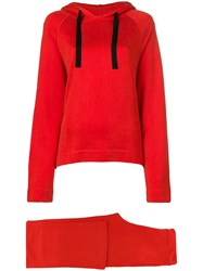 Majestic Filatures Two Piece Tracksuit Red