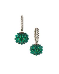 David Yurman Osetra Earrings With Green Onyx