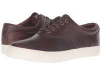 Polo Ralph Lauren Vaughn Tan Cream Smooth Oil Men's Lace Up Casual Shoes Brown