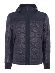 Duck And Cover Men's Axis Hooded Terrace Overshirt Navy