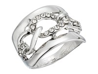 Guess Frozen Link Inside Band Ring Silver Crystal Ring
