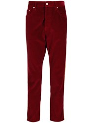 Just Cavalli Corduroy Side Stripe Trousers Red