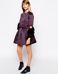The Laden Showroom X Domino Club Jacquard Skirt Aubergine