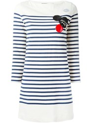 Marc By Marc Jacobs Patched Breton Stripe Dress Nude And Neutrals