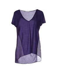 Stefanel T Shirts Purple