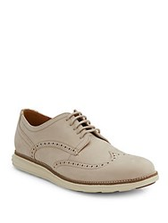 Cole Haan Suede Wingtip Oxfords Barley