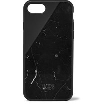 Native Union Clic Marble And Rubber Iphone 7 8 Case Black