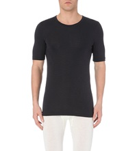 Hanro Wool Silk T Shirt Anthracite