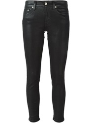 Dondup Waxed Skinny Jeans Black