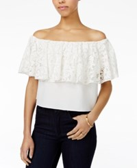 Rachel Roy Lace Off The Shoulder Top Only At Macy's White
