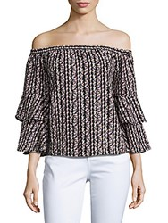 Romeo And Juliet Couture Off The Shoulder Bell Sleeve Blouse Black