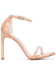 Stuart Weitzman Nudistsong Sandal Pumps Women Leather Patent Leather 40 Nude Neutrals