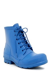 Hunter Original Rubber Lace Up Boot Blue
