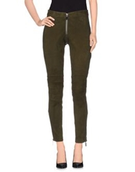 Elizabeth And James Casual Pants Military Green