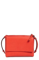 French Connection Callie Faux Leather Crossbody Bag Orange Sunset Wave