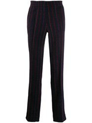 Missoni Striped Tailored Trousers Blue